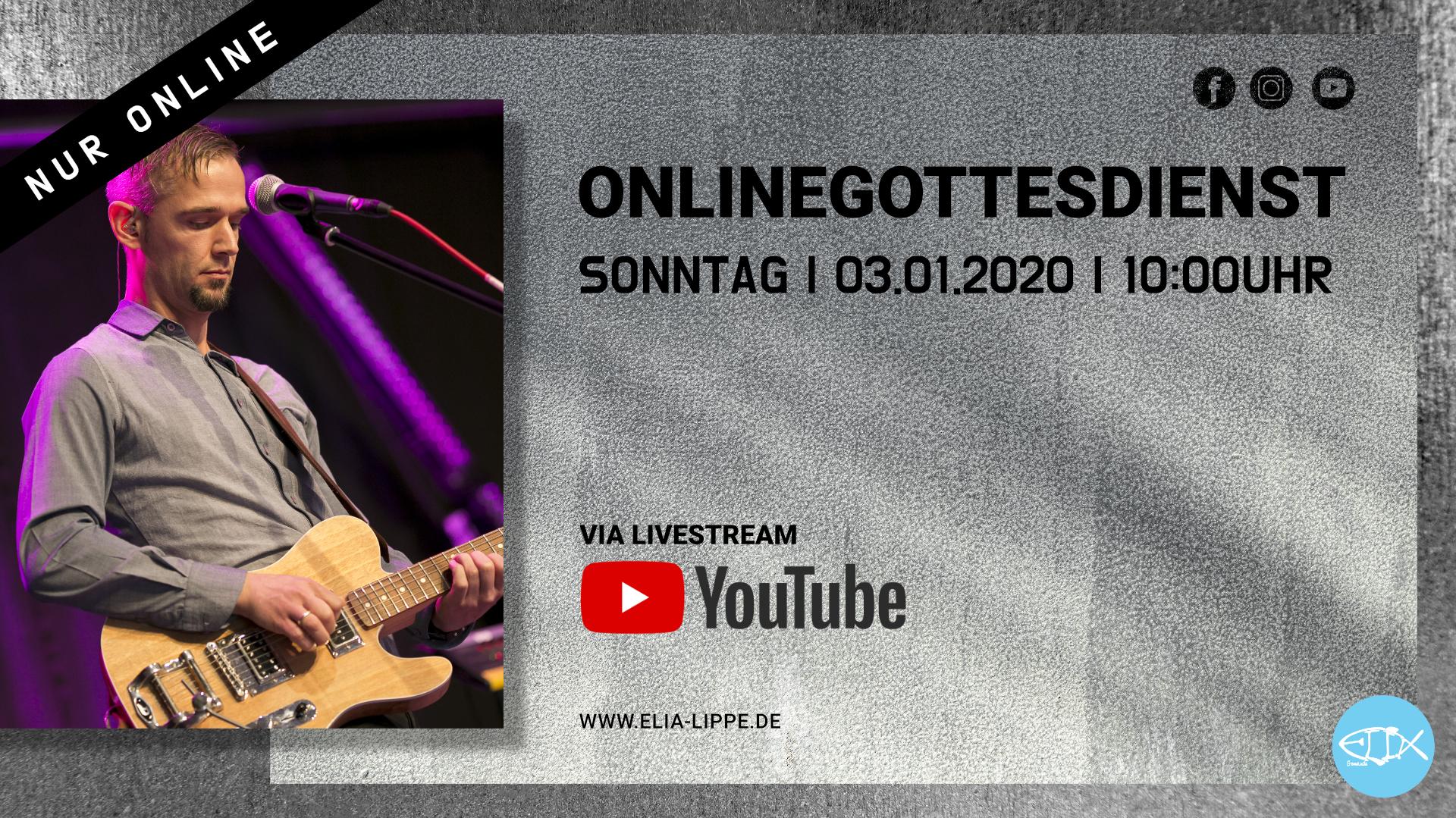 ONLINEGOTTESDIENST | 03.01.2021 | 10:00UHR