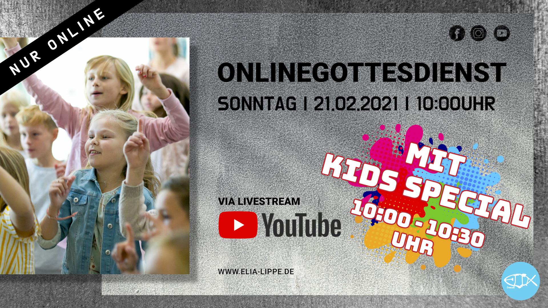 ONLINEGOTTESDIENST MIT KIDS SPECIAL